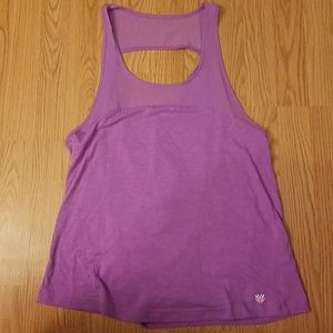 Slouchy back athletic tank top